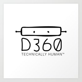 d360 black tee Art Print