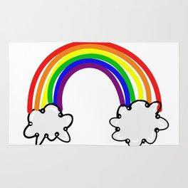 Rainbow rain bow colour colours sticker new 2018 red orange yellow green blue purple clouds cloud Rug