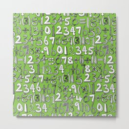 math doodle green Metal Print