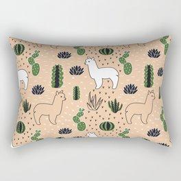 Alpaca&cactus Rectangular Pillow