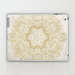 Mandala Temptation in Golden Yellow Laptop & iPad Skin