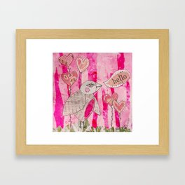 hello birdie Framed Art Print