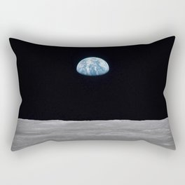 Earth rise over the Moon Rectangular Pillow