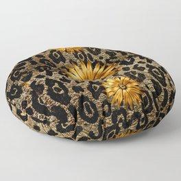 Animal Print Cheetah Triple Gold Floor Pillow