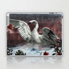 Landing Swan Laptop & iPad Skin