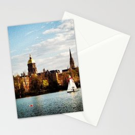 Sailing at Notre Dame Stationery Cards