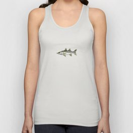 """""""Snook"""" by Amber Marine - Centropomus undecimalis ~ Watercolor Illustration, (Copyright 2013) Unisex Tank Top"""