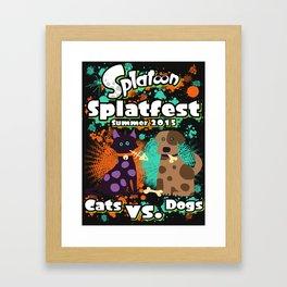 Splatfest Cats vs. Dogs Framed Art Print
