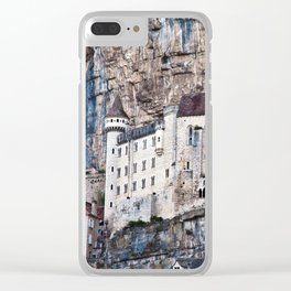 Medieval Facade of the French Castle in Rocamadour Clear iPhone Case