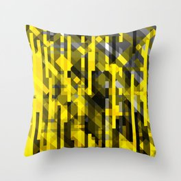 abstract composition in yellow and grays Throw Pillow
