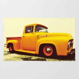 Yellow Ford F-100  Rug