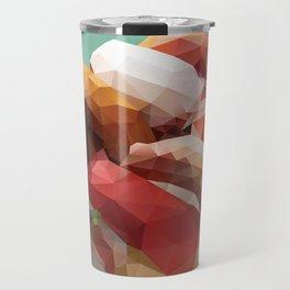 Nigiri Sushi Platter Polygon Art Travel Mug