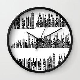 Cityscape 02 / Paysage Urbain 02 Wall Clock