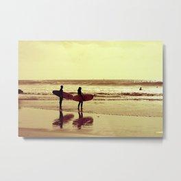 Winter surf Metal Print