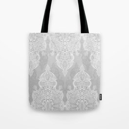 Lace & Shadows 2 - Monochrome Moroccan doodle Tote Bag