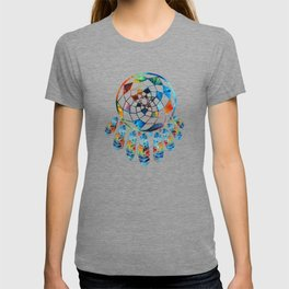 Native American Colorful Dream Catcher by Sharon Cummings T-shirt
