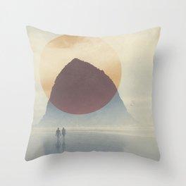 Haystack Rock of Cannon Beach, Oregon Throw Pillow