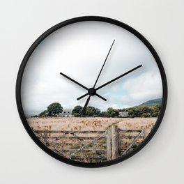 Wheat field in Scotland Wall Clock