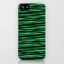 black and green weave iPhone Case