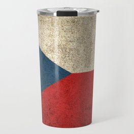 Old and Worn Distressed Vintage Flag of Czech Republic Travel Mug
