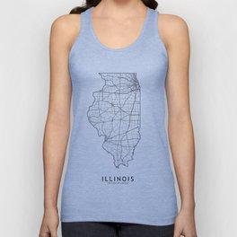 Illinois White Map Unisex Tank Top