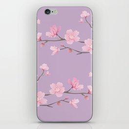 Cherry Blossom - Pale Purple iPhone Skin