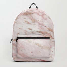 Pink marble - rose gold accents Backpack