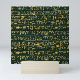 Egyptian hieroglyphs Mini Art Print