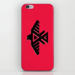 Thunderbird flag - Red background HQ image iPhone Skin