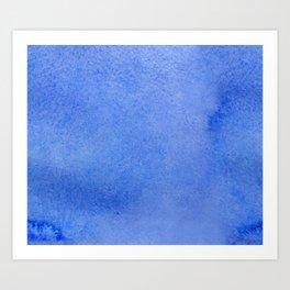 Azure watercolor Art Print