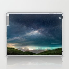 Milky Way over Hong Kong Lights Laptop & iPad Skin
