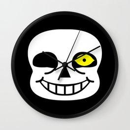Sans Skull Bad Time Wall Clock