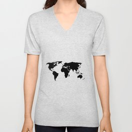 World Outline Unisex V-Neck