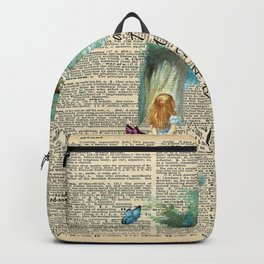 Alice In Wonderland Quote - Imagination - Dictionary Page Backpack