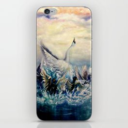 Ugly duckling transformation iPhone Skin