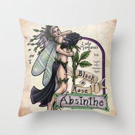 Black Rose Absinthe by Bobbie Berendson W Throw Pillow