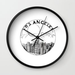 Los Angeles in a glass ball 2  ( https://society6.com/vickonskey/collection ) Wall Clock