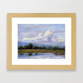 Clouds Over the Bay Framed Art Print