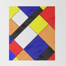 Mondrian #18 Throw Blanket