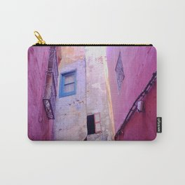 Pink and Purple Morocco Carry-All Pouch