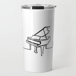 Piano Player Heartbeat Funny Travel Mug