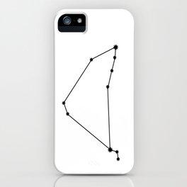 Capricorn Star Sign Black & White iPhone Case