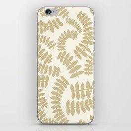 Beige Ferns iPhone Skin