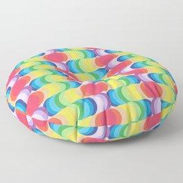 Rainbow Dragon Scales 2 Floor Pillow