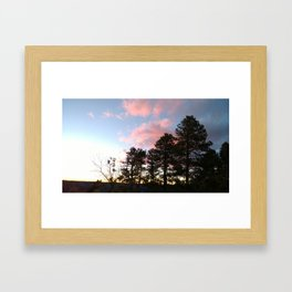 Red cloud at Grand Canyon Framed Art Print