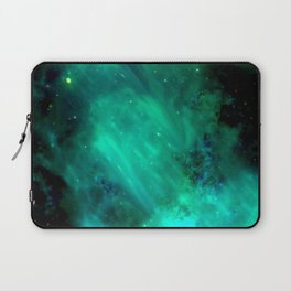Teal Blue Indigo Sky, Stars, Space, Universe, Photography Laptop Sleeve