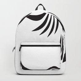 BLACK TRIBAL BIRD Abstract Art Backpack