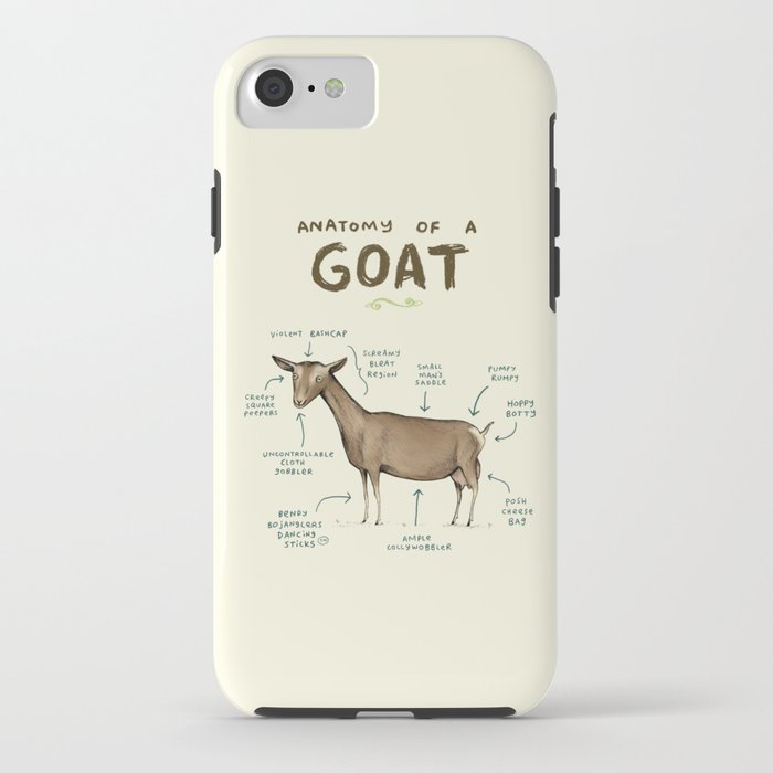 Anatomy of a Goat iPhone Case by sophiecorrigan | Society6
