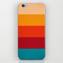 VINTAGE RETRO COLORS PATTERN iPhone Skin