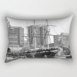 A US Frigate Ship in Baltimore, MD Rectangular Pillow
